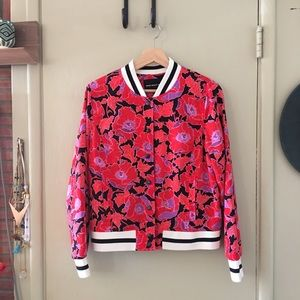 WHO WHAT WEAR printed bomber jacket